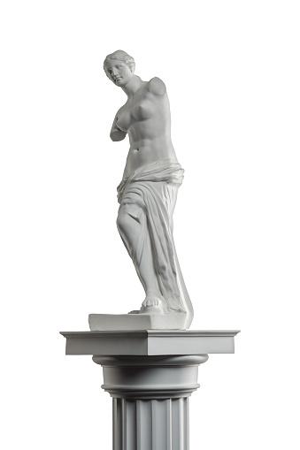 868667742 istock photo plaster sculpture of Venus on a white background, gypsum 868663004