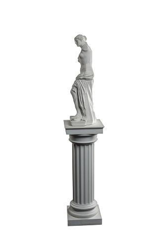 868667742 istock photo plaster sculpture of Venus on a white background, gypsum 868663150