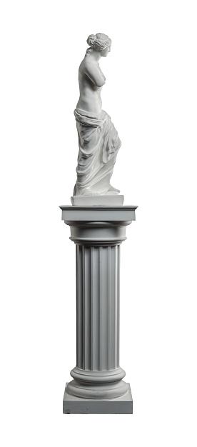 868667742 istock photo plaster sculpture of Venus on a white background, gypsum 868663730