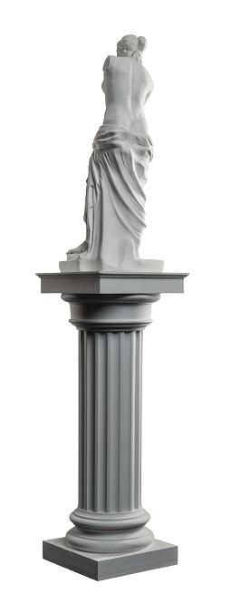 868667742 istock photo plaster sculpture of Venus on a white background, gypsum 868665418