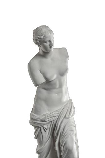 868667742 istock photo plaster sculpture of Venus on a white background, gypsum 868665442