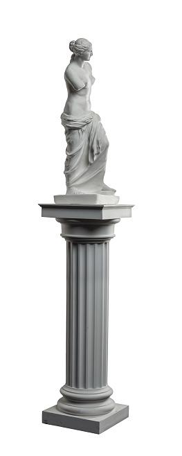 868667742 istock photo plaster sculpture of Venus on a white background, gypsum 868665498