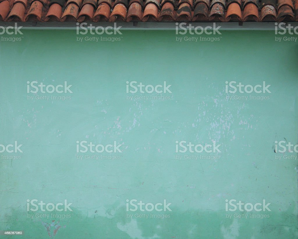 Plaster Wall And Terricotta Roof stock photo