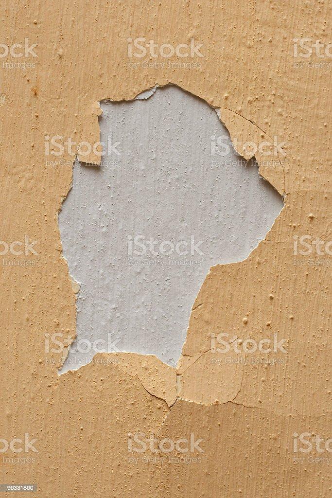 Plaster wall hole stock photo