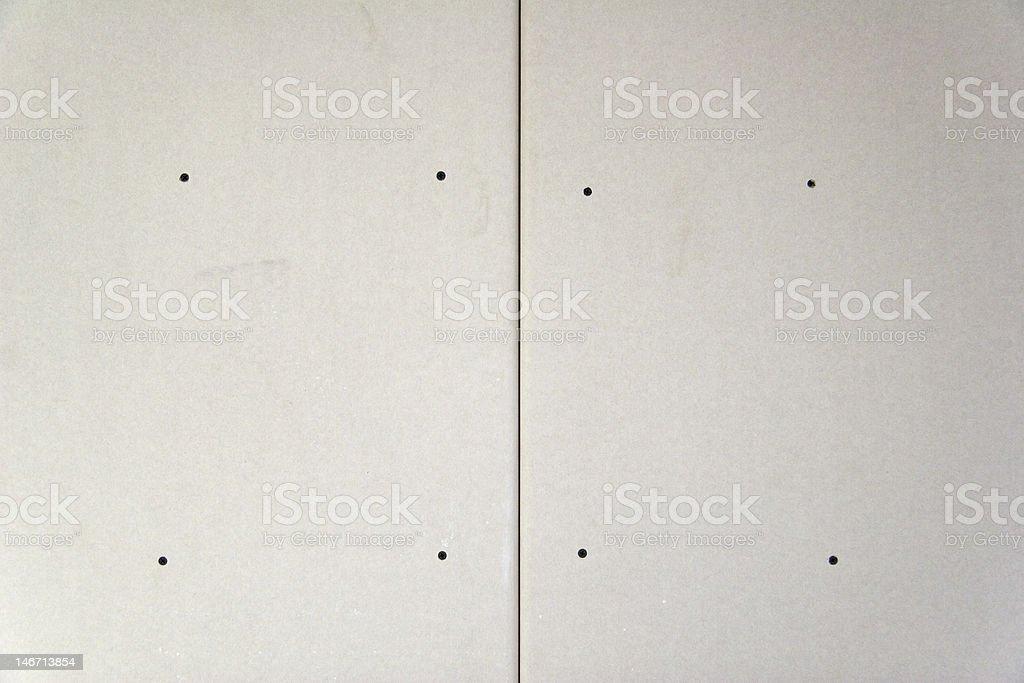 plasterboard wall stock photo