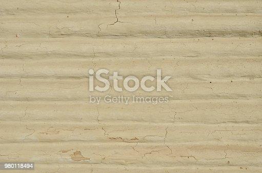 istock Plastered wood beams wall 980118494
