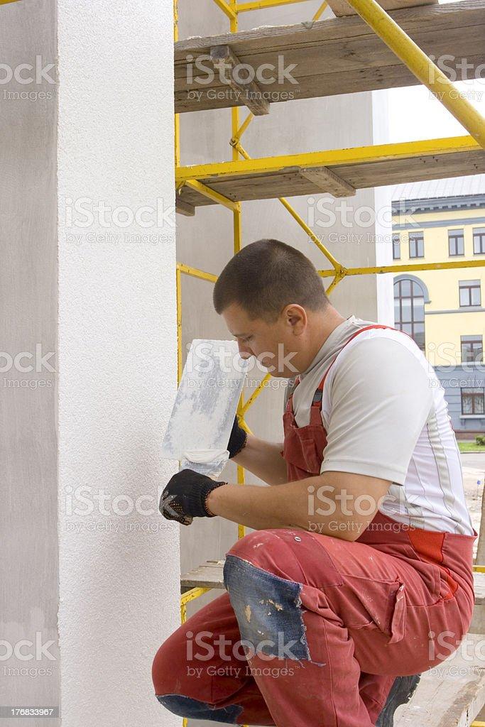 plasterer royalty-free stock photo