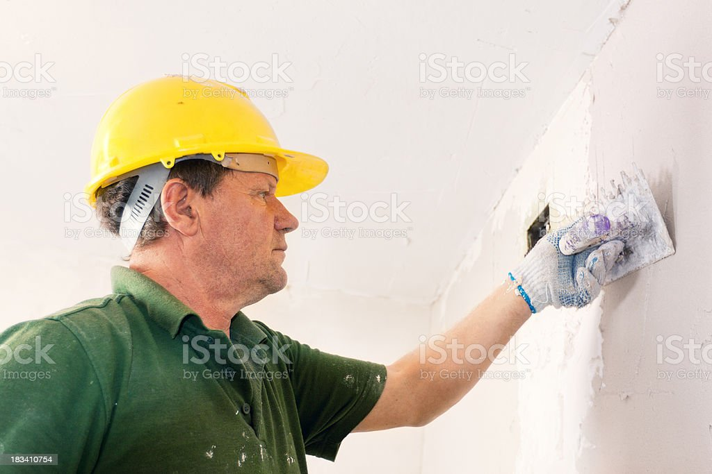 Plasterer royalty-free stock photo