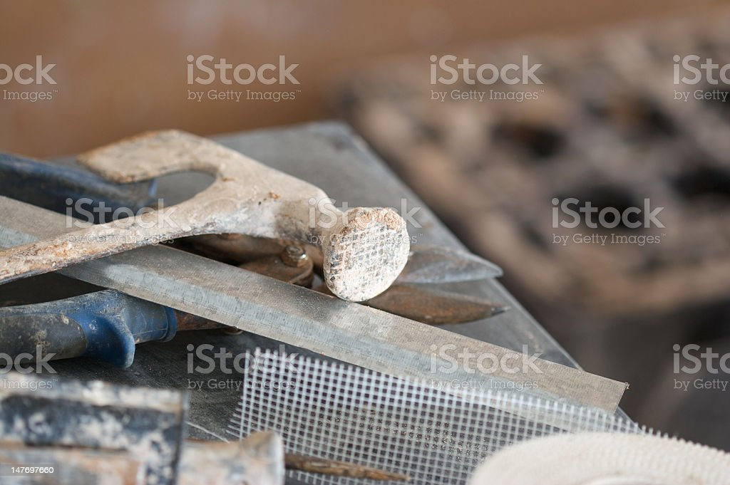 Plasterers Tools royalty-free stock photo