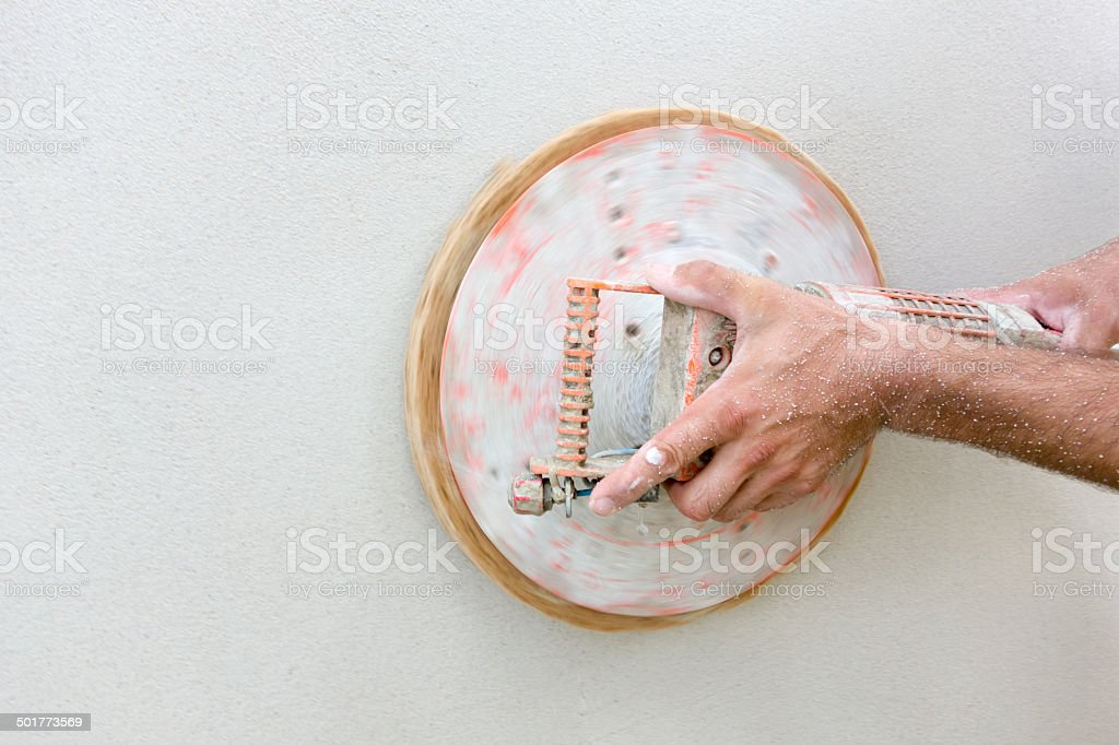 Plastering royalty-free stock photo