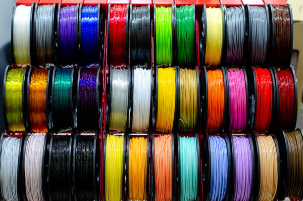 Plastic 3d Printing Filament Set stock photo