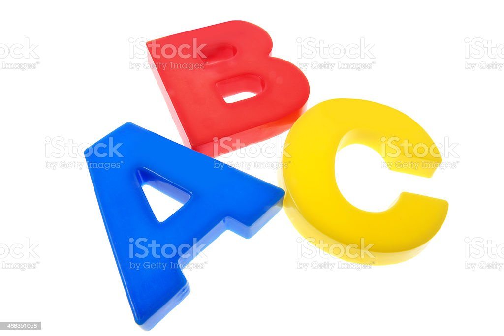 Plastic Alphabets stock photo