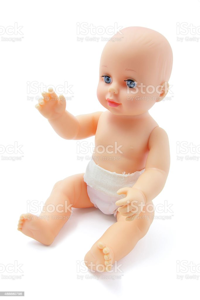 Plastic Baby Doll stock photo