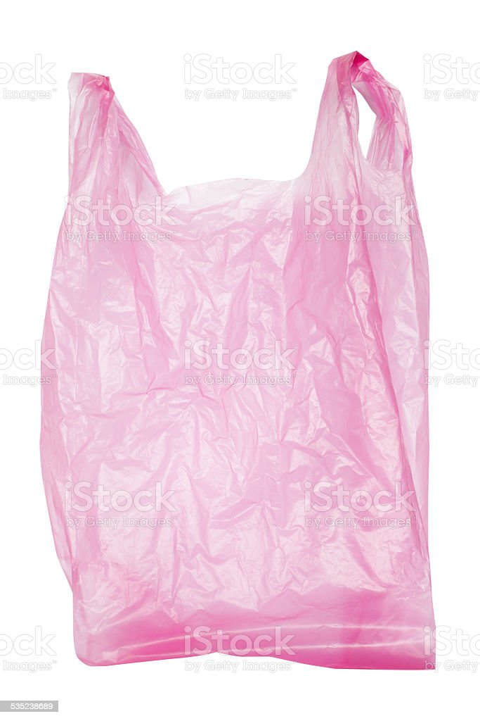 Plastic Bag isolated on white background stock photo