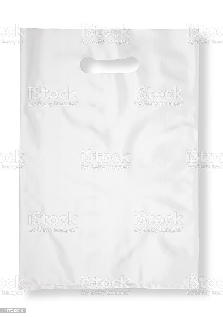 Plastic bag on white stock photo