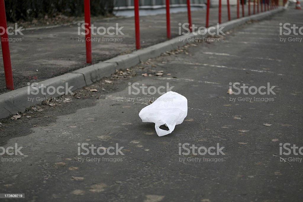 Plastic bag royalty-free stock photo