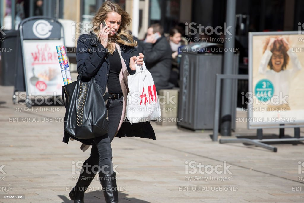 huge sale store buying cheap Hm Plastic Bag Shopping Street Sale Stock Photo - Download Image ...