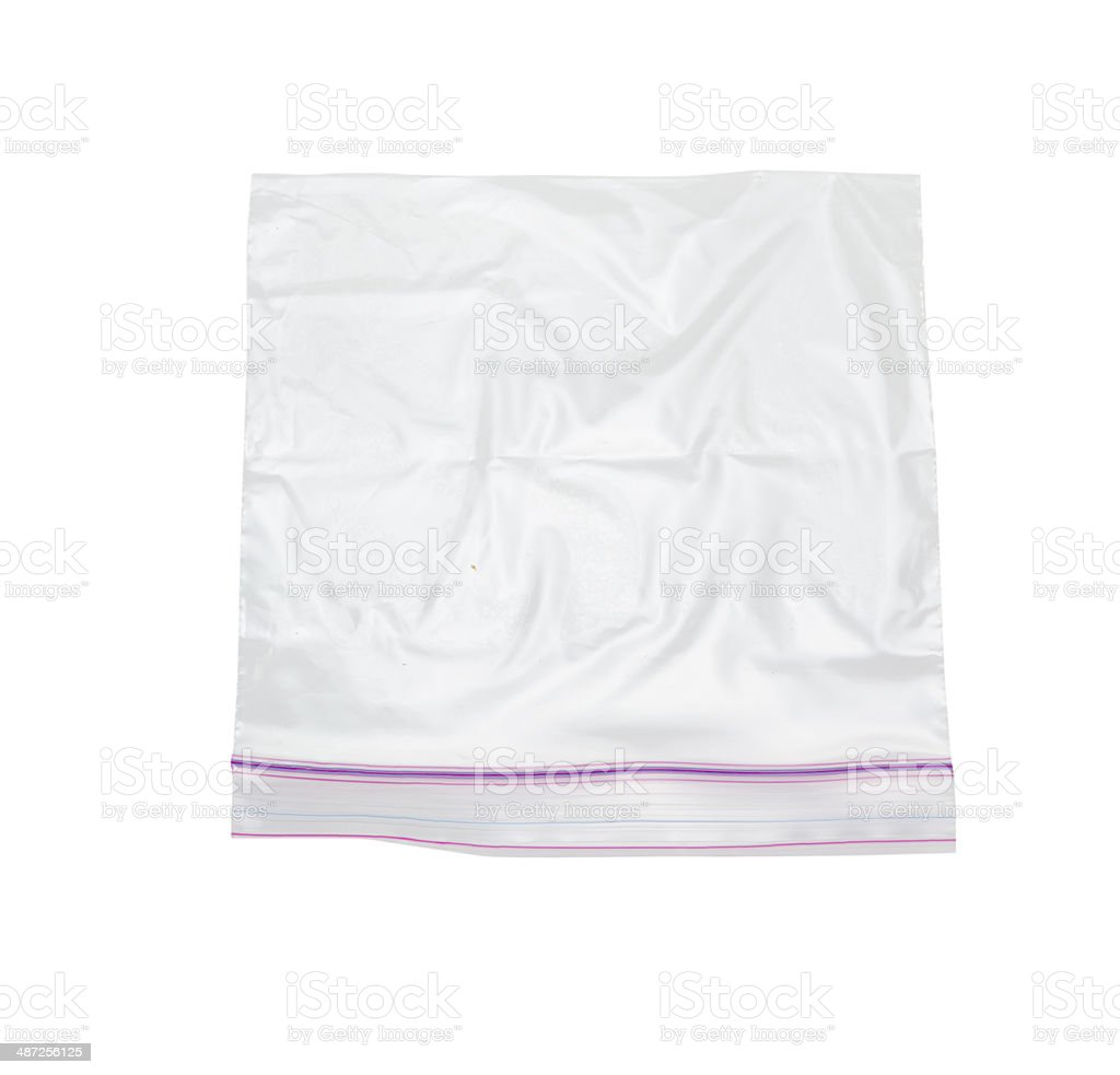 plastic bag with lock stock photo