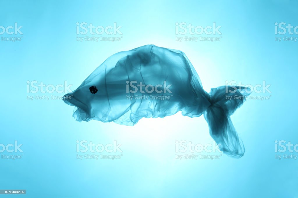 Plastic Bags And Garbage In The Sea And Ocean Suffering