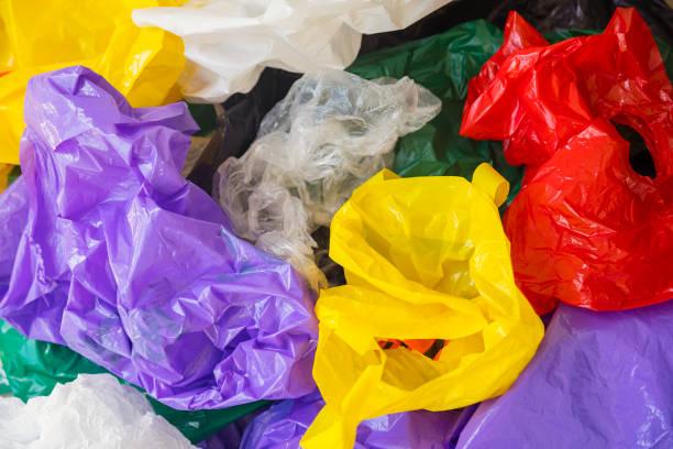 Kunststofftüten Hintergrund, Umweltgefährdung – Foto