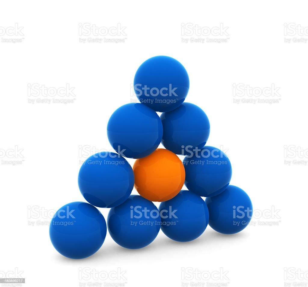 Plastic Balls in Pyramid Shape royalty-free stock photo