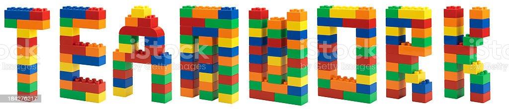 Plastic Block stock photo