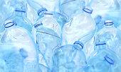 plastic, bottle, dirty, blue, 3d rendering, ecology