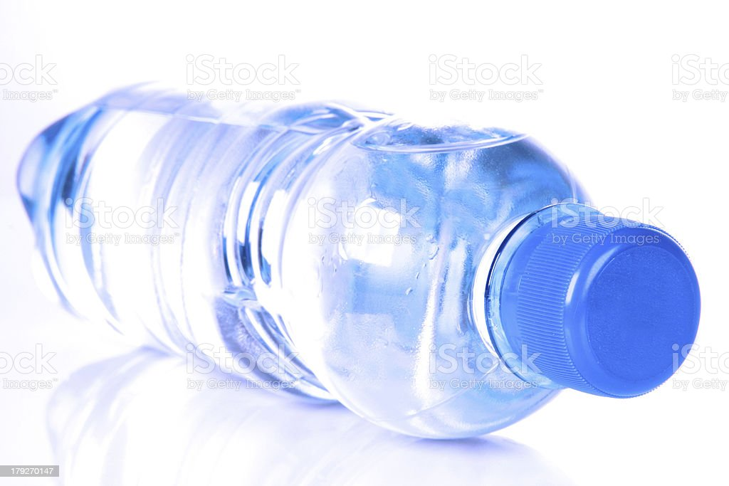 plastic bottle and water royalty-free stock photo