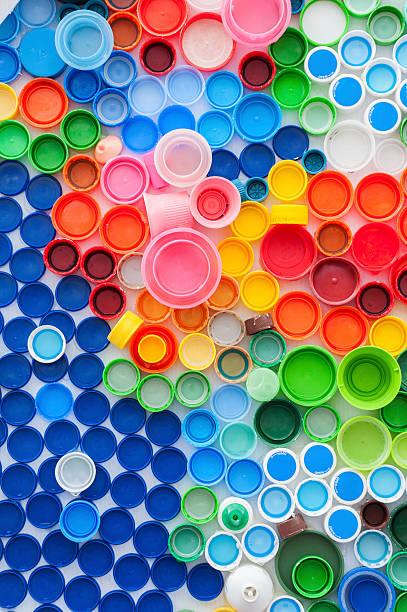 plastic bottle caps - plastic cap stock photos and pictures