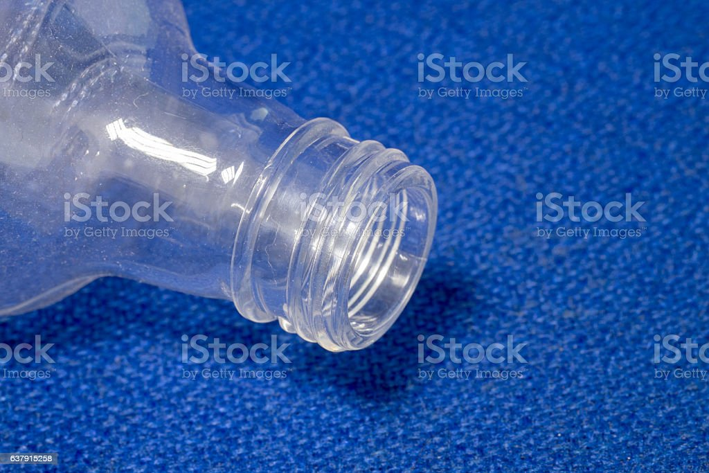 PET plastic bottle for food and drug stock photo