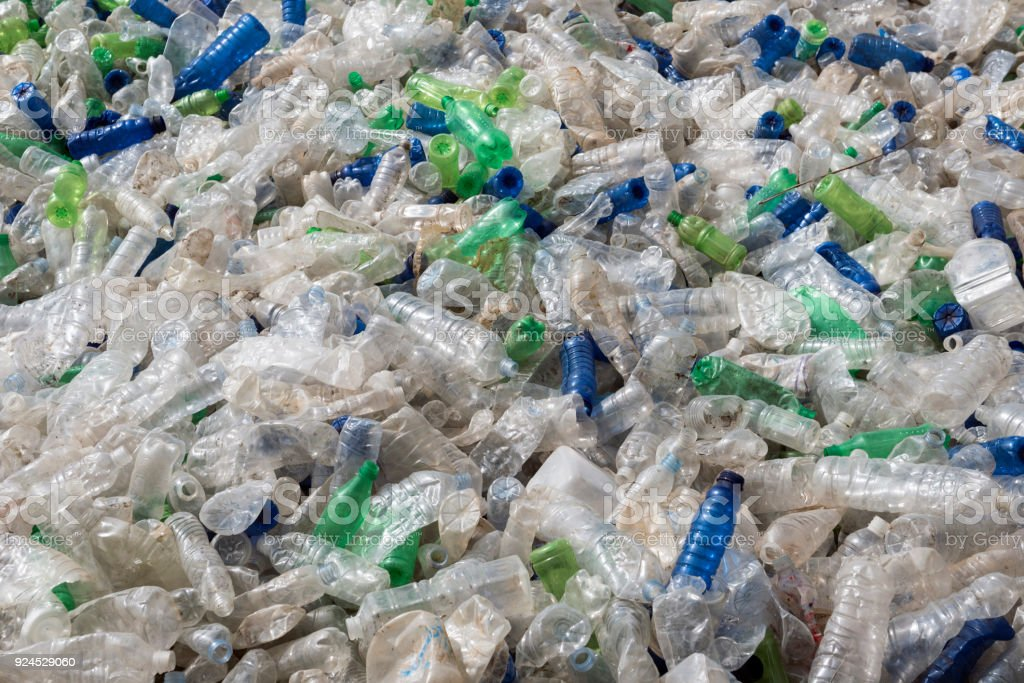 Kunststoff-Flasche Müll recycling – Foto