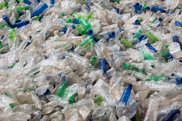 Plastic bottle garbage recycling stock photo
