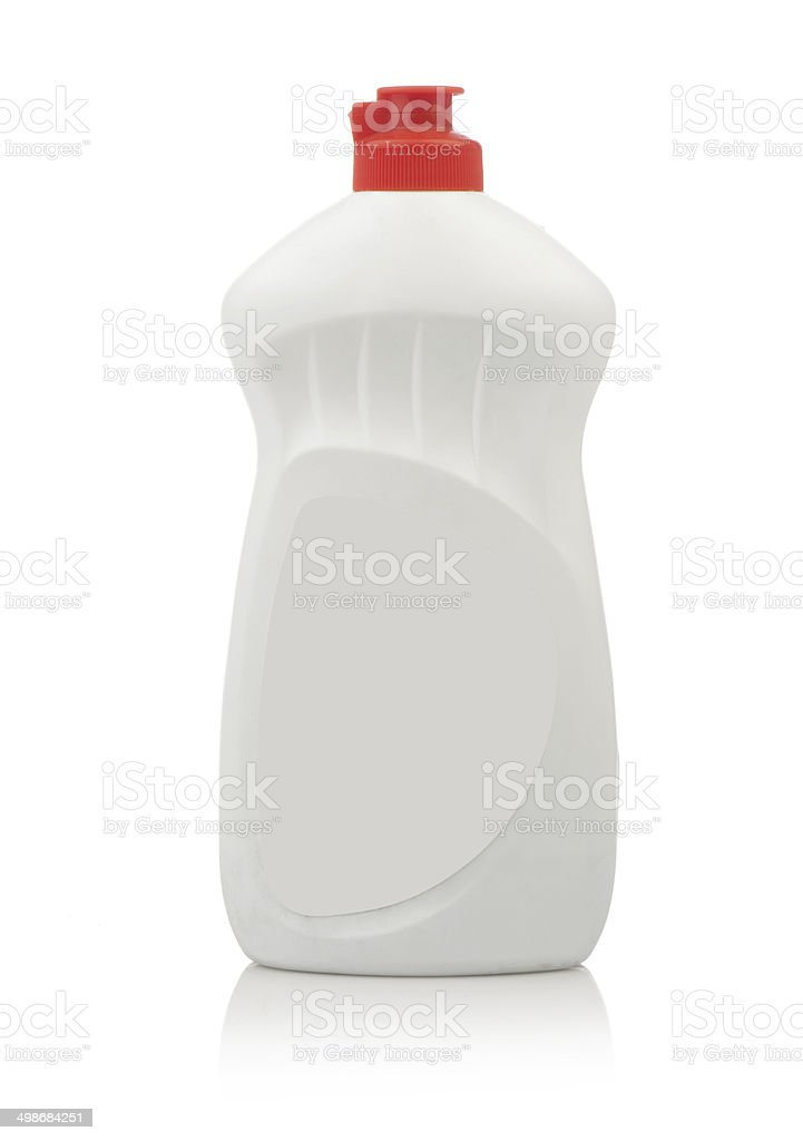 Plastic bottle Mockup, cleaning agent or washing cleaner. stock photo