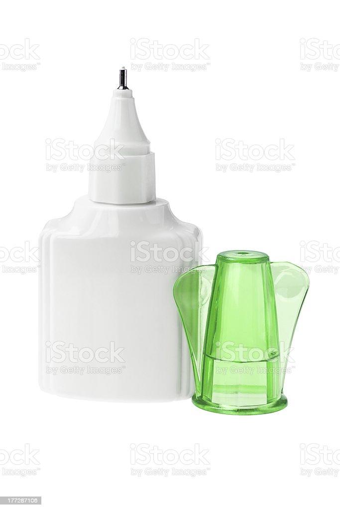 Plastic Bottle of Correcting Fluid stock photo