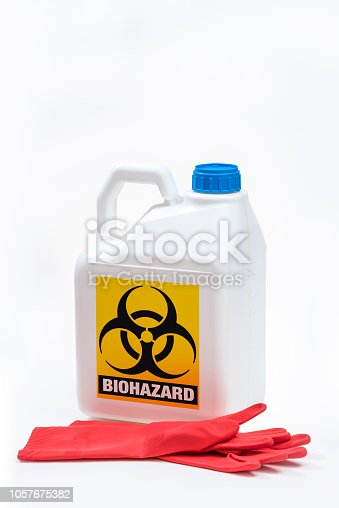 istock Plastic bottle product concept White background with accessories. 1057675382