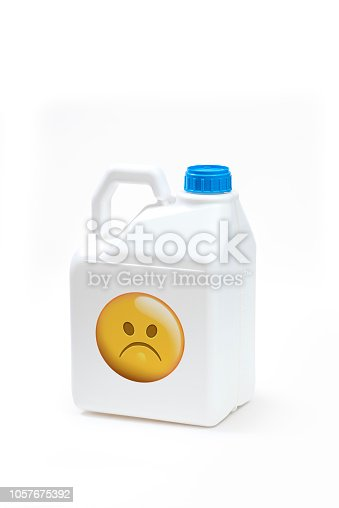 istock Plastic bottle product concept White background with accessories. 1057675392