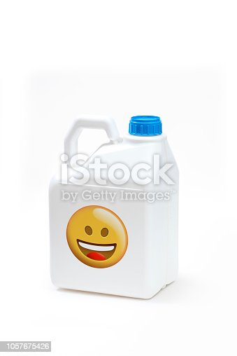 istock Plastic bottle product concept White background with accessories. 1057675426
