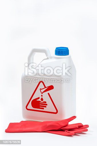 istock Plastic bottle product concept White background with accessories. 1057675526