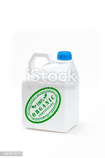istock Plastic bottle product concept White background with accessories. 1057675774