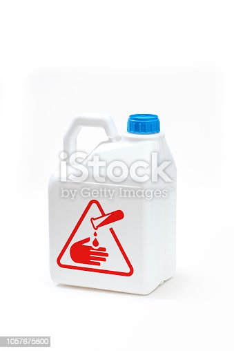 istock Plastic bottle product concept White background with accessories. 1057675800