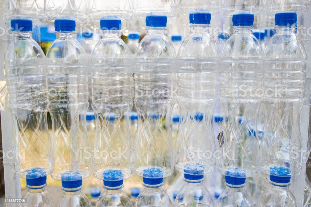 Plastic bottles, Concept of recycling Empty used plastic bottles...