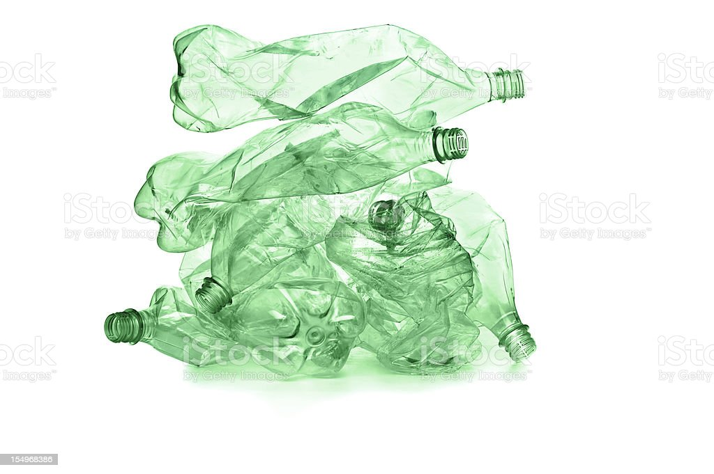 Plastic bottles for recycle stock photo