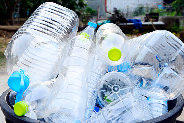 Plastic bottles garbage Plastic bottles garbage in Trash.. bottle bank stock pictures, royalty-free photos & images