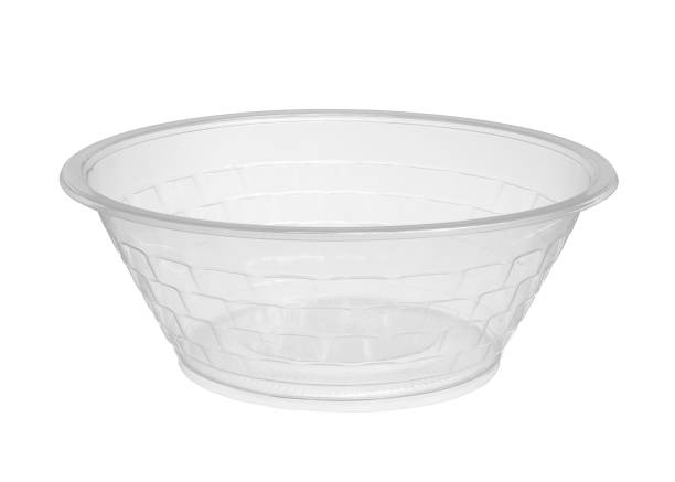Plastic bowl disposable stock photo
