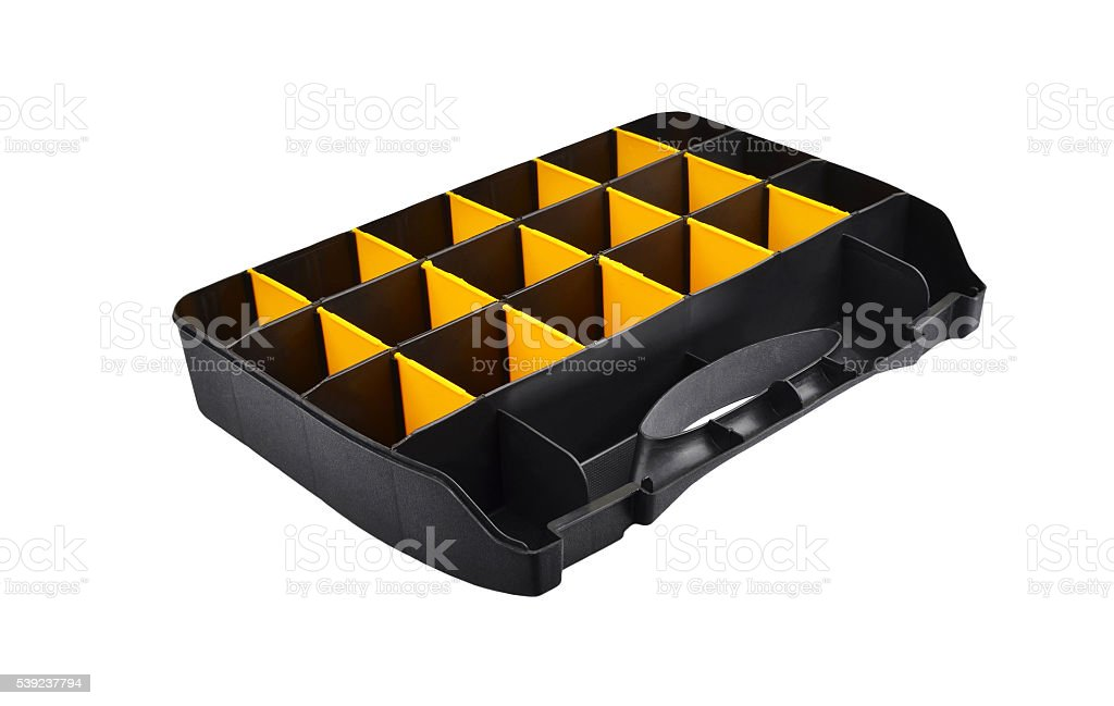 Plastic box for tools royalty-free stock photo