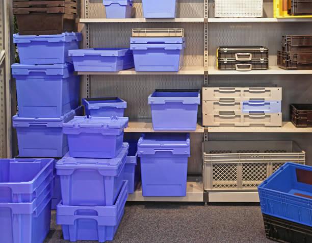 Plastic Boxes stock photo