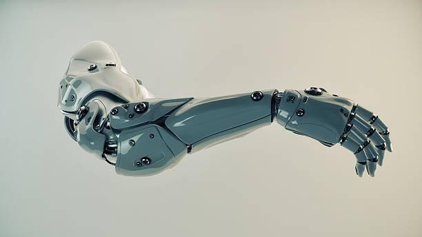 plastic brawny cyber arm - protesutrustning bildbanksfoton och bilder