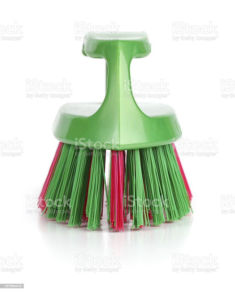 Plastic brush for cleaning clothes stock photo