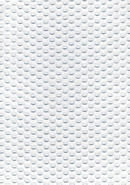 Plastic Bubble Wrapping Material stock photo