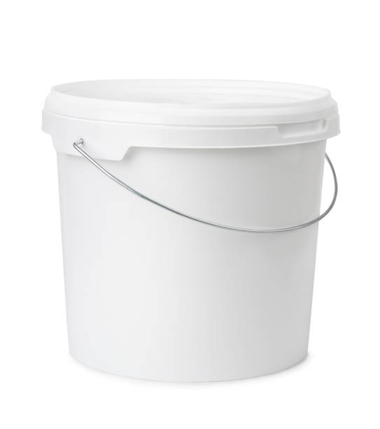 Plastic bucket stock photo